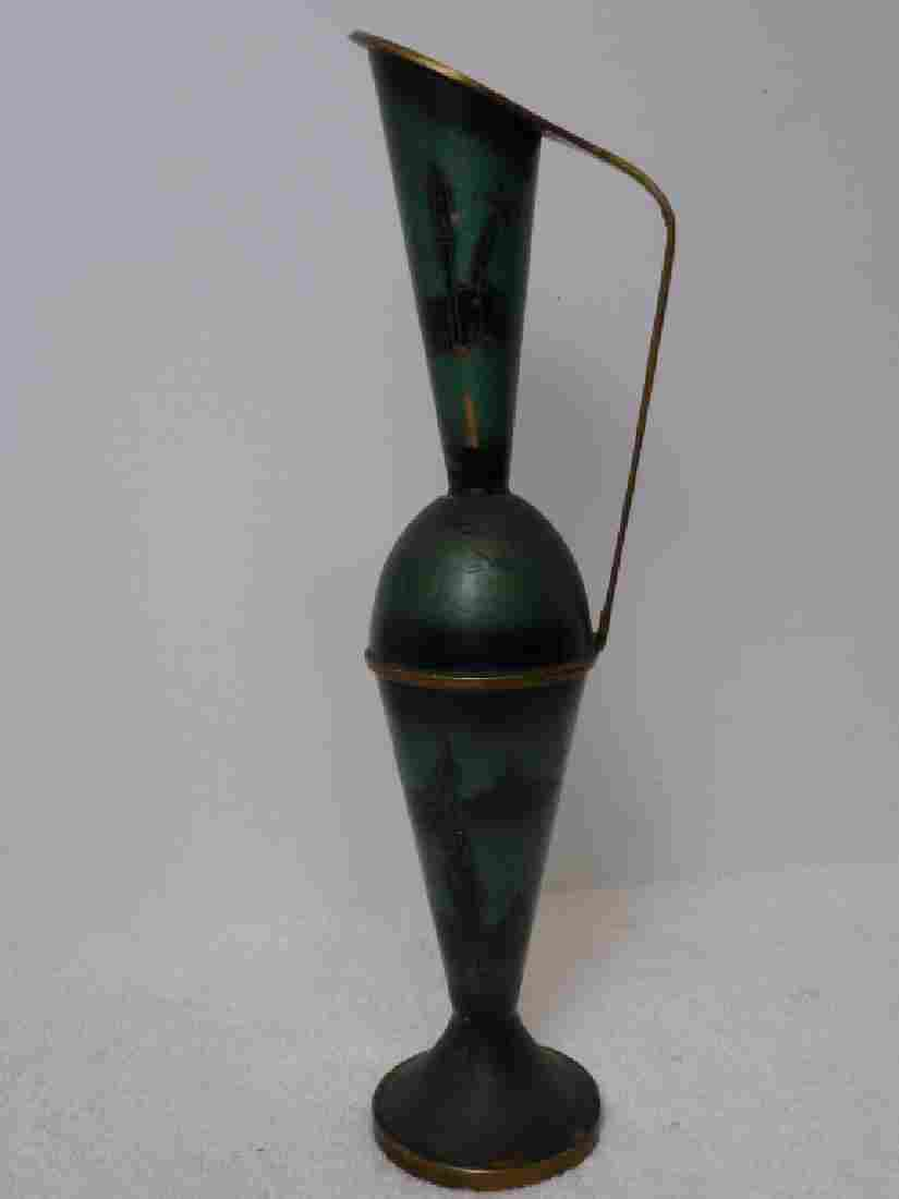 Brass Enameled Pitcher, Goblets Israel