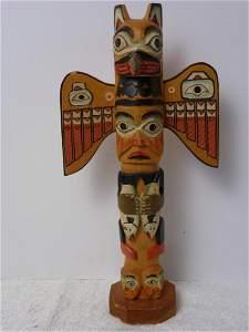 Vintage Toy Totem Pole, Made in Alaska