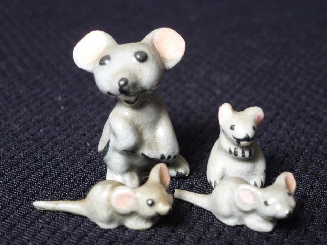 Mice Miniatures Set of 4