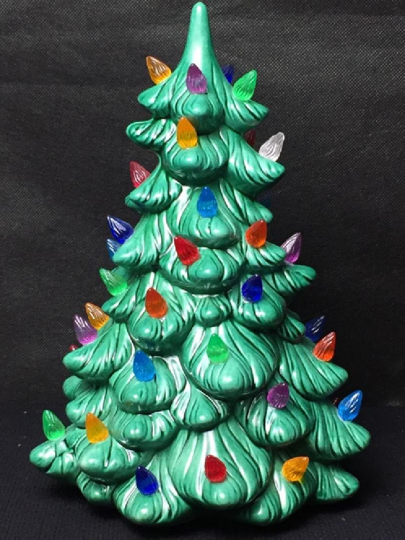 Vintage Ceramic Light Up Christmas Tree - 2