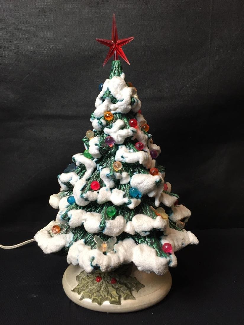 Vintage Ceramic Light Up Christmas Tree