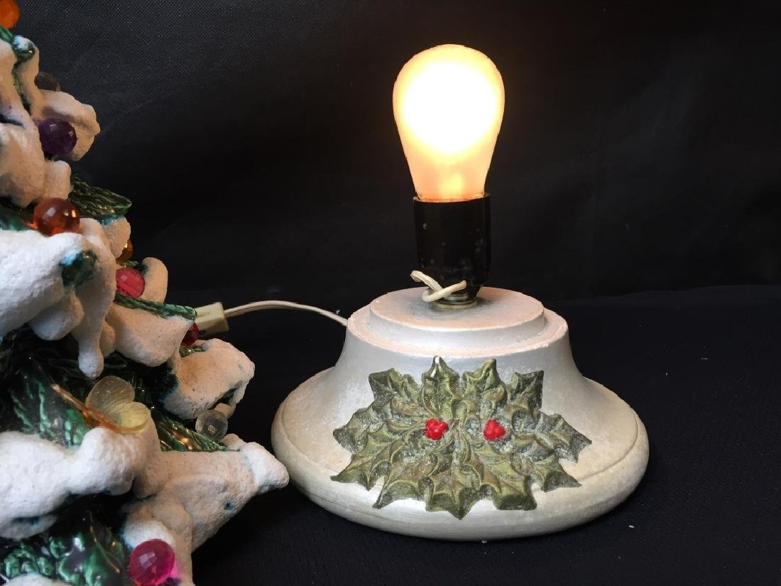 Vintage Ceramic Light Up Christmas Tree - 3