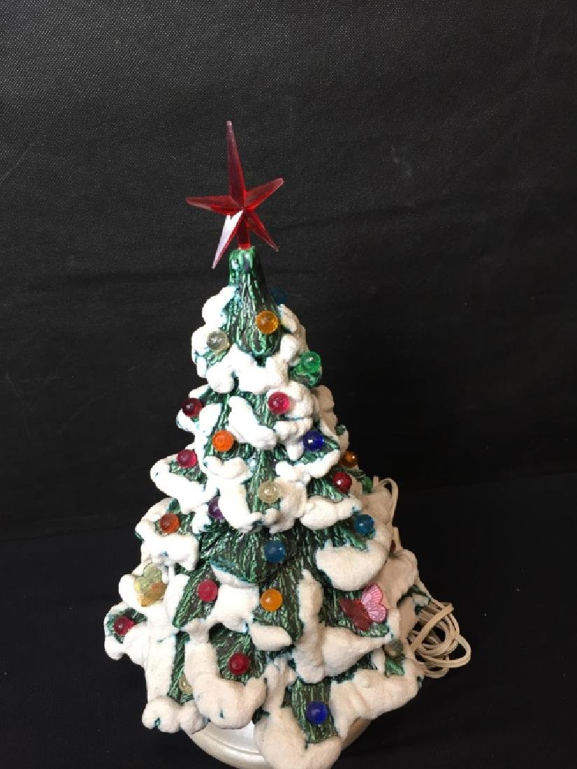 Vintage Ceramic Light Up Christmas Tree - 4
