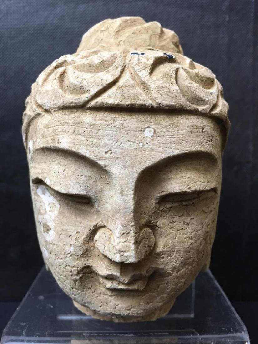 Buddha Head Carved of Stone