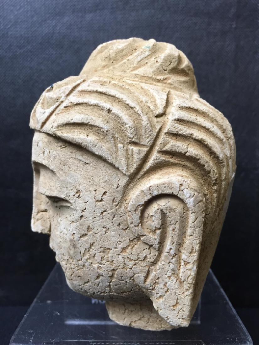 Buddha Head Carved of Stone - 2