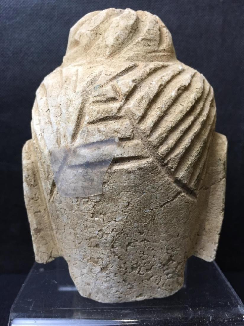 Buddha Head Carved of Stone - 3