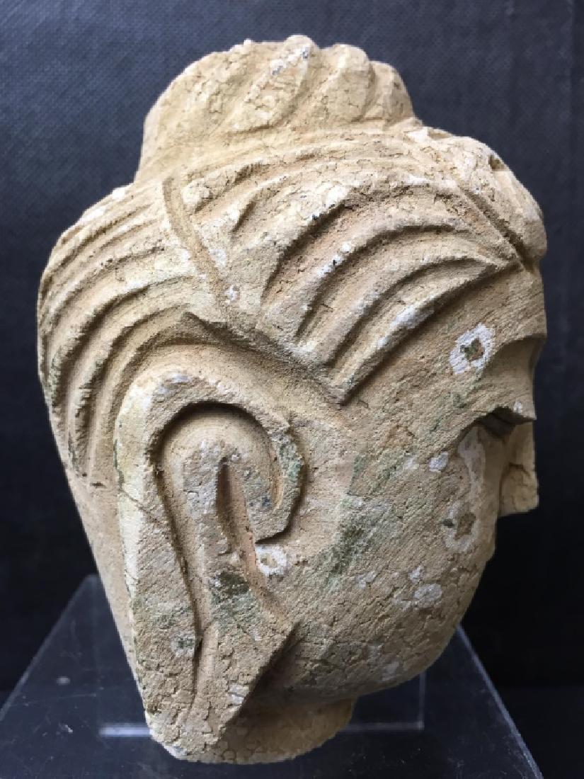 Buddha Head Carved of Stone - 4