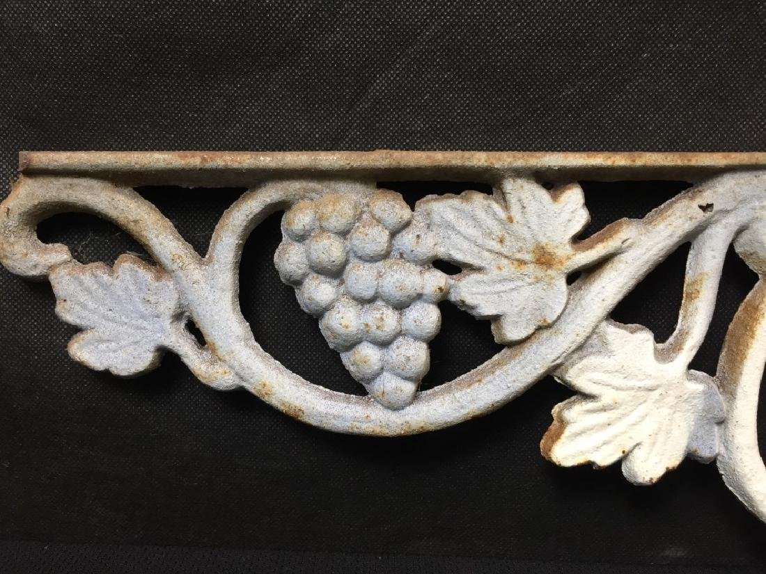 Architectural Piece Cast Iron Grapes & Vines - 2