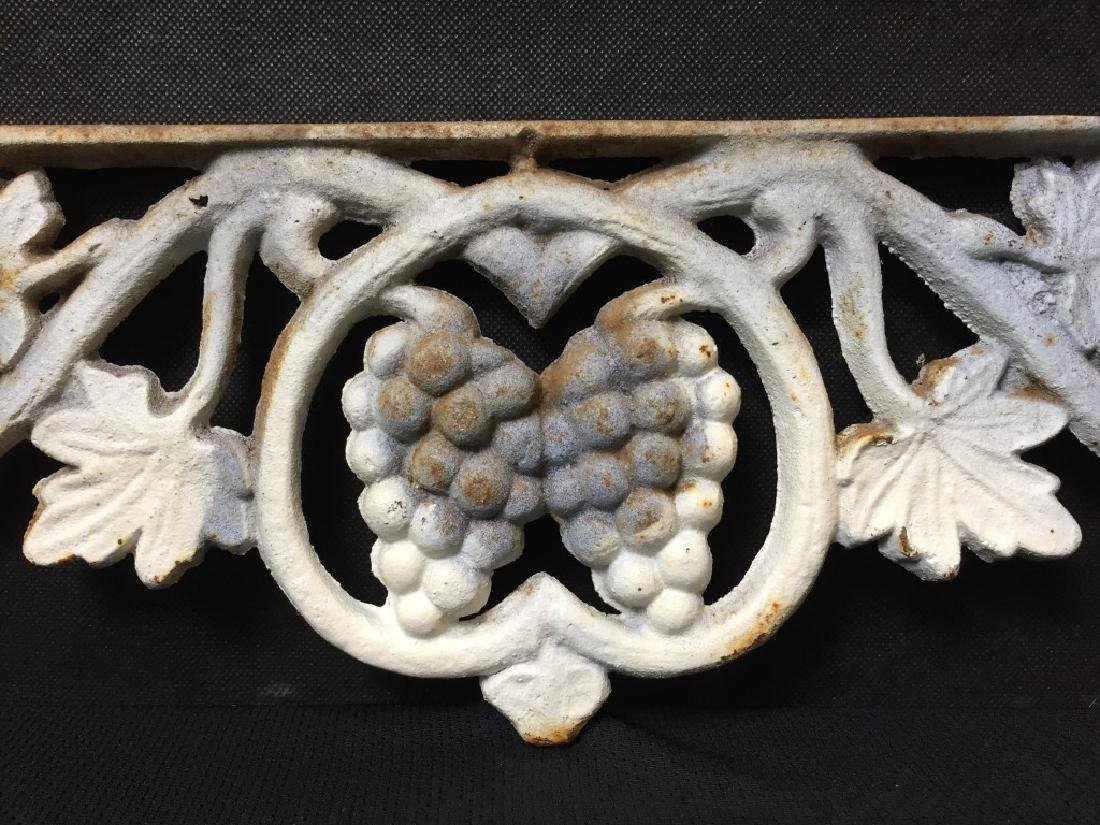Architectural Piece Cast Iron Grapes & Vines - 3