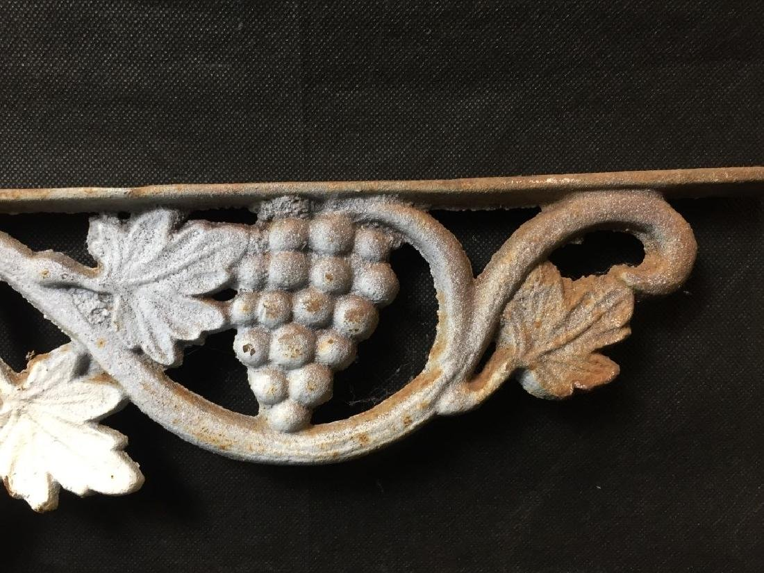 Architectural Piece Cast Iron Grapes & Vines - 4