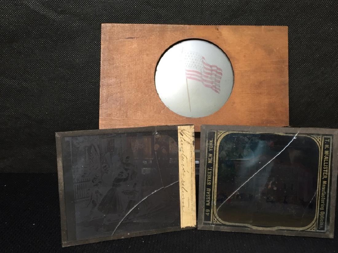 3 Glass Slides - Magic Lantern