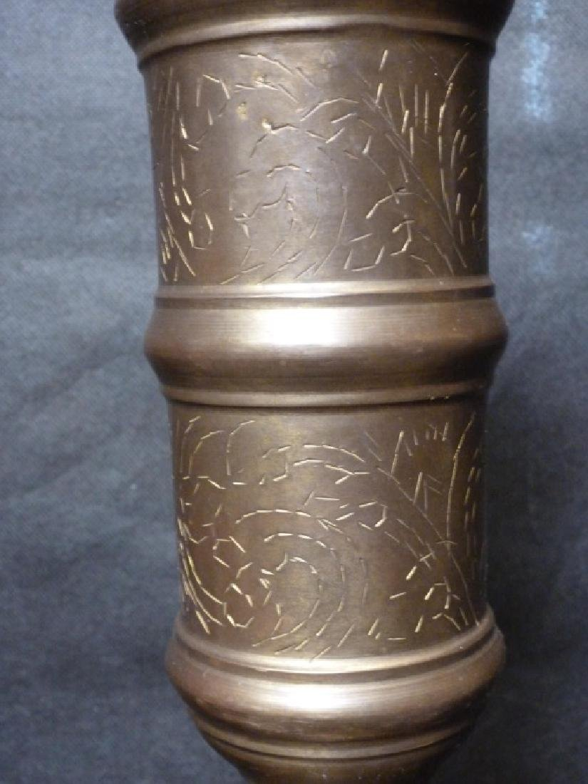 Monumental Brass Candle Holders, Pair - 2