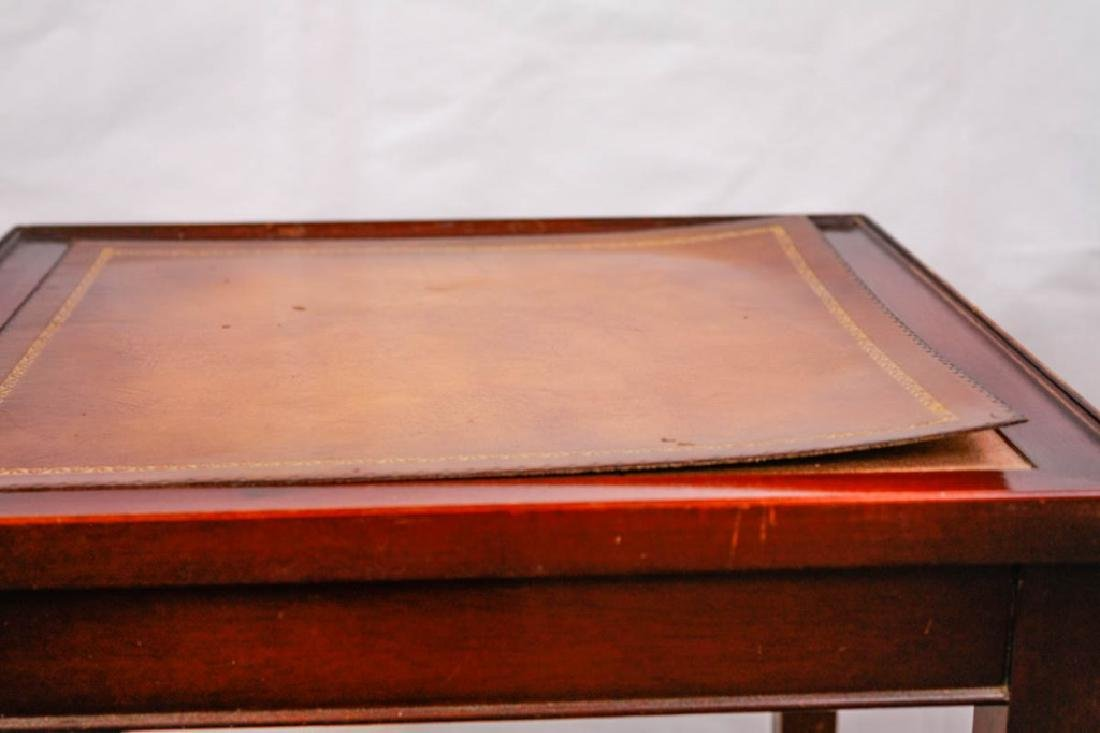 Imperial Mahogany Leather Top Nesting Tables (3) - 6