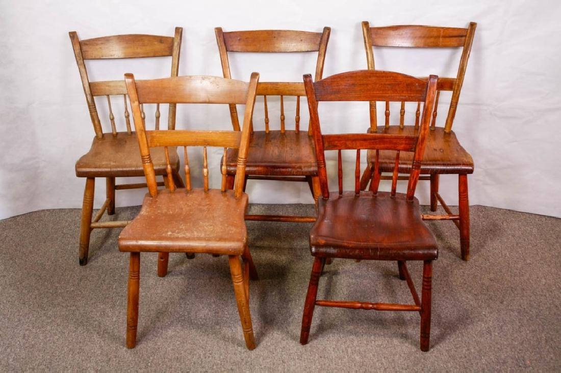 Colonial Handmade Side Chairs (5)