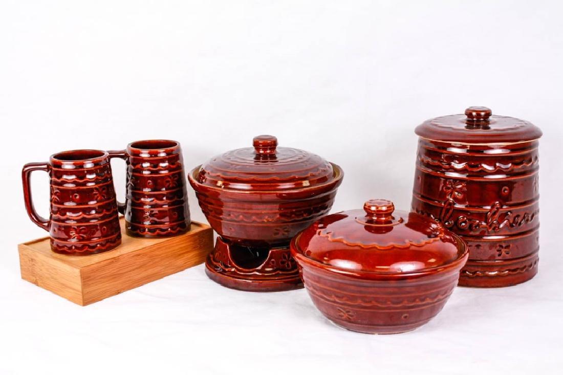 Marcrest Stoneware 5 Pc Set