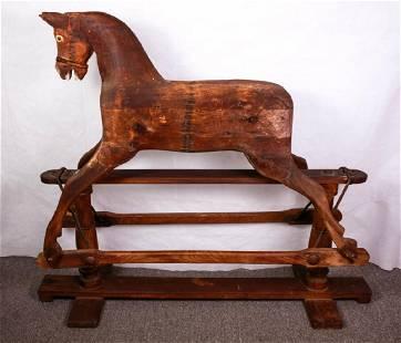 Antique Victorian Platform Rocking Horse