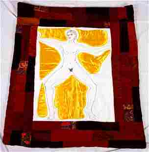 Quilted Wall Hanging of Female Figure