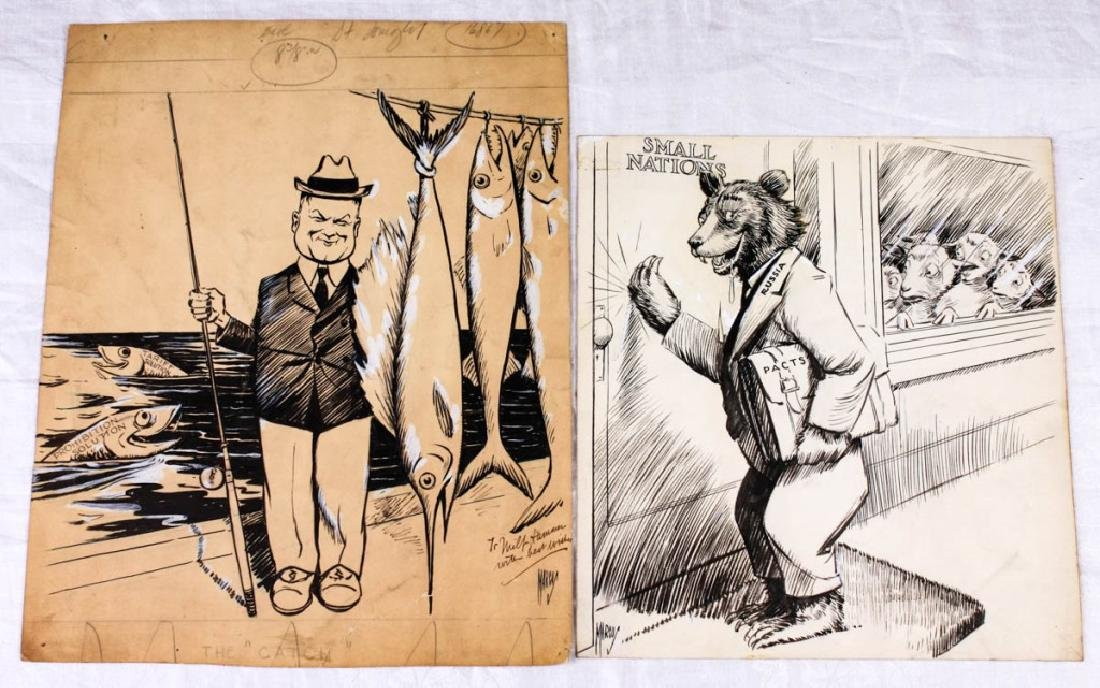 Political Cartoons by Edwin Marcus (2)