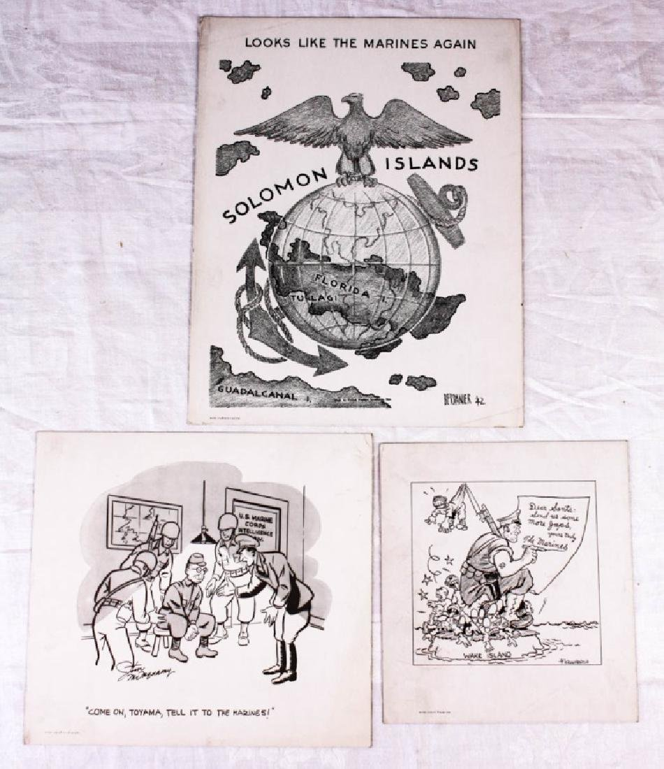 Marine Cartoon Prints (3)