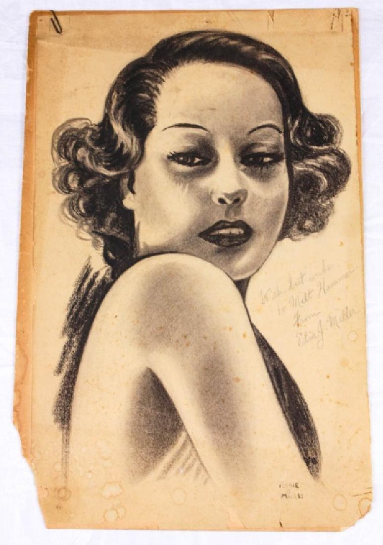 Charcoal Portrait by Elsie J. Miller