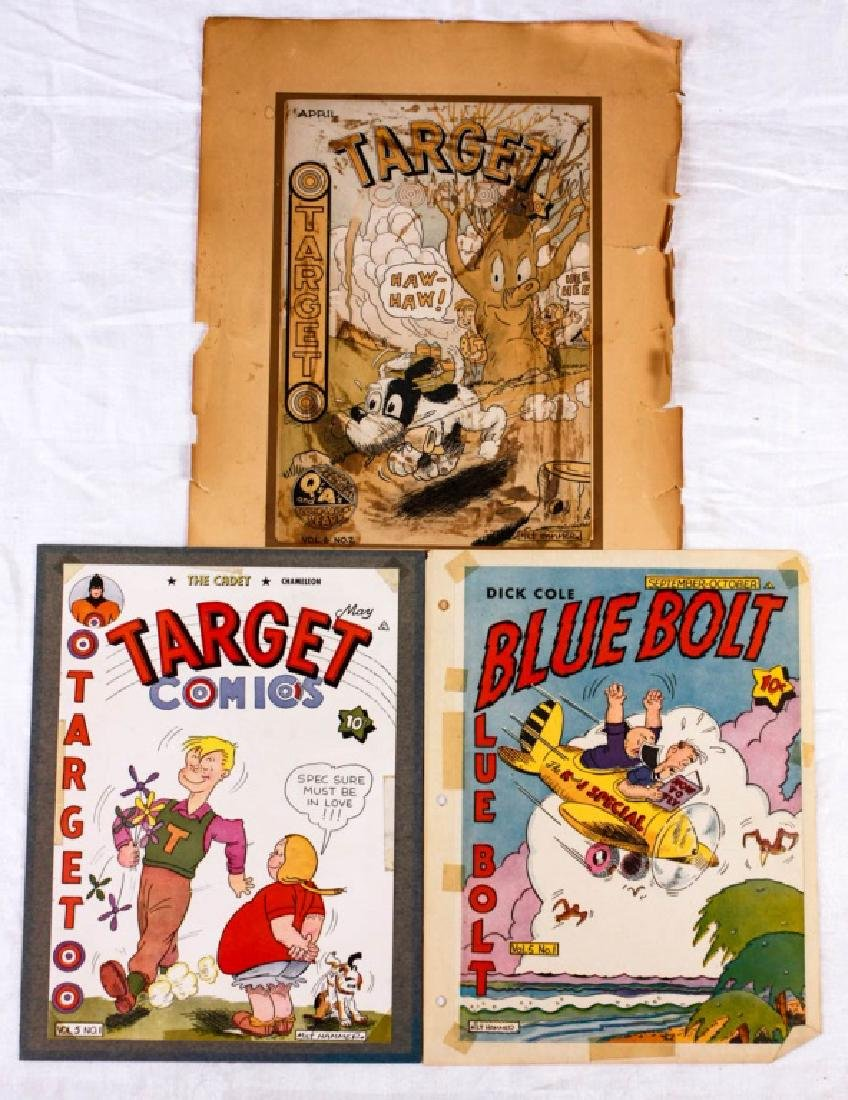 Blue Bolt & Target Comics Covers by Milt Hammer