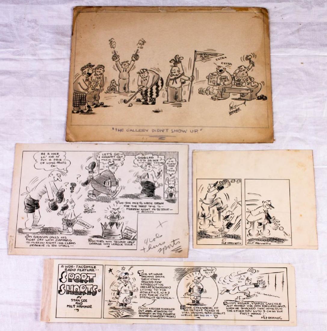 Original Sports Comics by Milt Hammer (4)