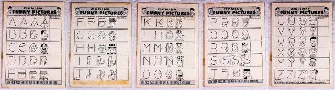 How to Draw Funny Pictures Alphabet by Milt Hammer