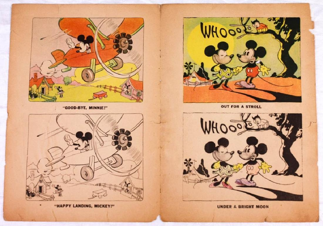 Vintage Mickey & Minnie Mouse Coloring Page