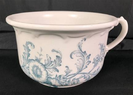 Chamber Pot Blue White by Maddock Works