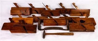 Antique Wood Molding Planes & Misc. Tools