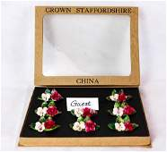 Crown Staffordshire Place Card Holders 8