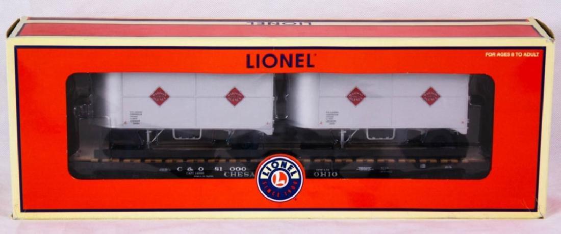 Lionel C&O PS-4 Flatcar w/ Trailers 17585