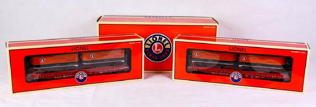 Lionel 11895 Great North. PS-4 Flatcar w/Trailers