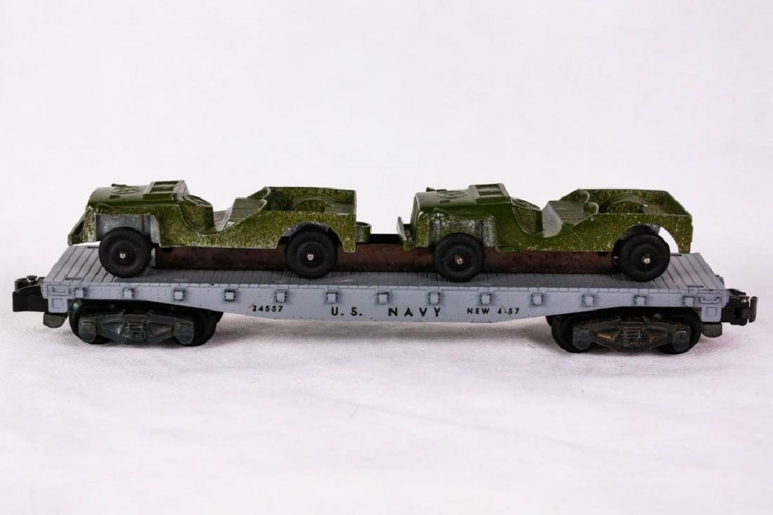 American Flyer 24557 US Navy Car with Jeeps