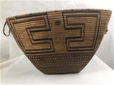 "Imbricated Burden Basket, Lillooet 16.75"" x 13.5"""