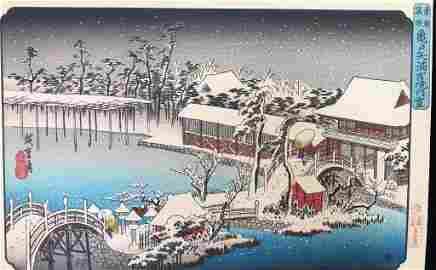 Hiroshige Utagawa (Japanese 1797-1858) Woodblock