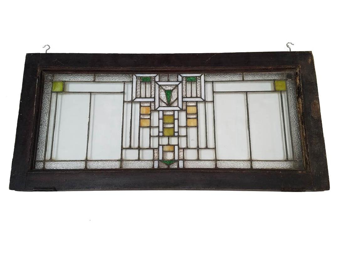 Chicago Arts and Crafts Stained Glass Window