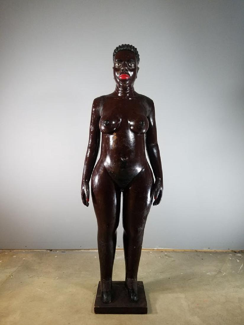 Monumental Nude Colonial Ivory Coast Sculpture