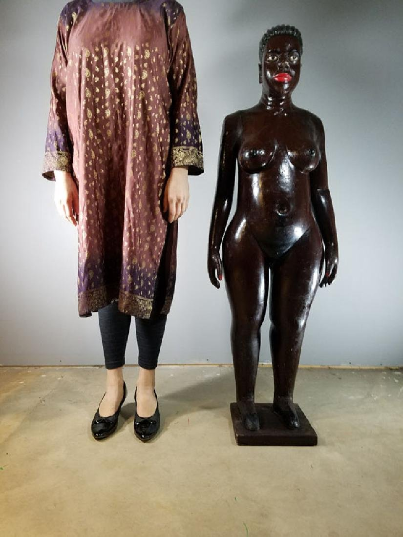 Monumental Nude Colonial Ivory Coast Sculpture - 2