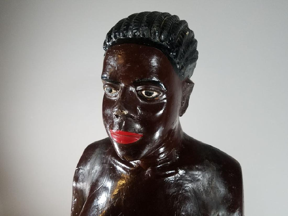 Monumental Nude Colonial Ivory Coast Sculpture - 4