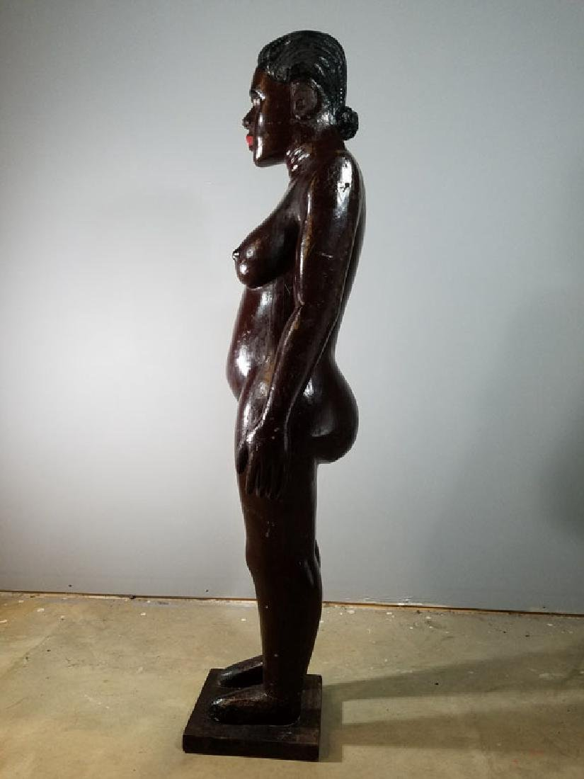 Monumental Nude Colonial Ivory Coast Sculpture - 5