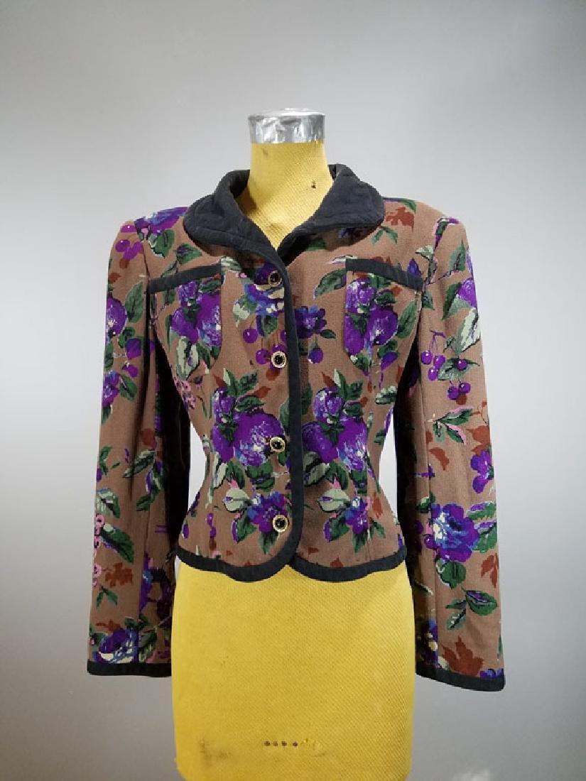 Ungaro Vintage Designer Crepe Silk Jacket