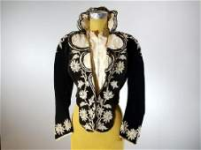Victorian Velvet Embroidered Bodice Corset