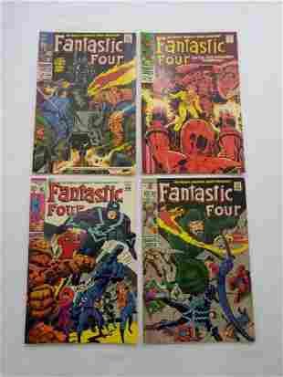 MARVEL Fantastic Four Grouping #'s 80, 81, 82, 83