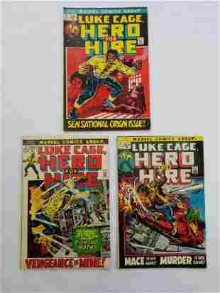 MARVEL Luke Cage, Hero For Hire LOT #1,2,3 Comics
