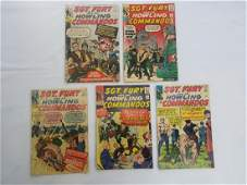 MARVEL LOT OF 5 SGT FURY 12345 Comics