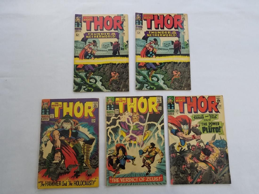 MARVEL THOR #127 #128 #129 #130 x2 Comic Books