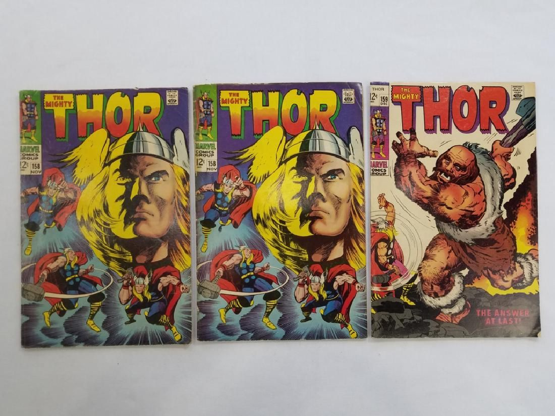 MARVEL The Mighty THOR #158 x2 #159 Comic Books
