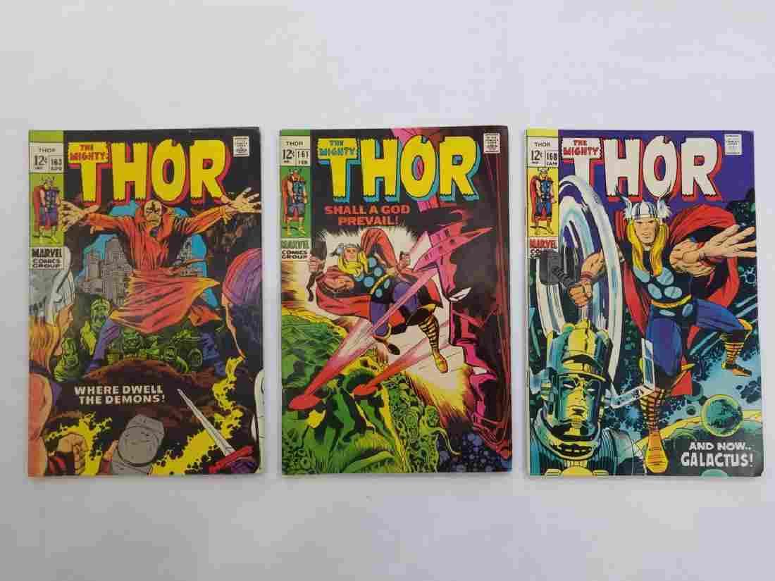 MARVEL The Mighty THOR #160 #161 #163 Comics