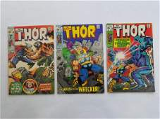 MARVEL THOR #170 #171 #172 Comic Books